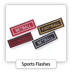 Embroidered Sports Flashes