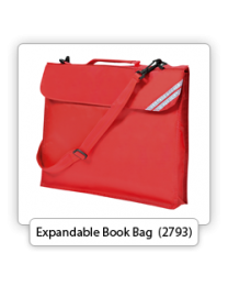 Expandable Book Bag with Strap